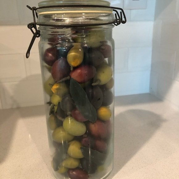 None Other - Faux Olives in Canning Jar
